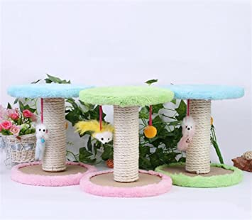 Huihuger - Rascador para Gatos con Bola y ratón para Plataforma de Escalada de Gato