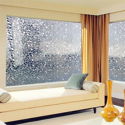 KING DO WAY 100cm Kieselsteine Sichtschutzfolie Milchglasfolie Fenster Folie selbstklebend