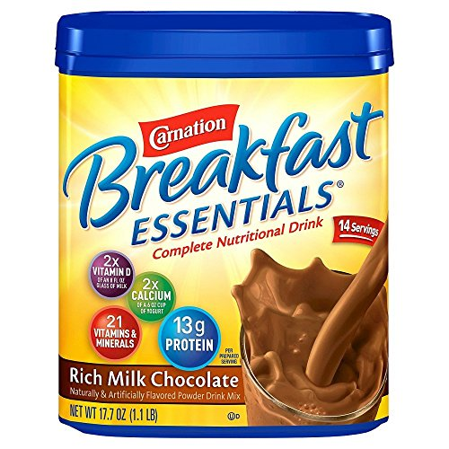 Carnation Instant Breakfast (Carnation Breakfast Essentials Chocolate Powder, 17.7-Ounce Canisters (Pack of 3))