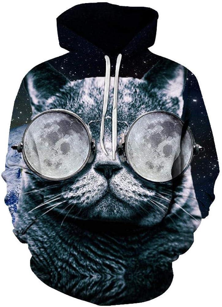 Fun-Kapuzenpullover Männer Frauen Printed Sweatshirt Pullover Hoodie Pullover Tops A