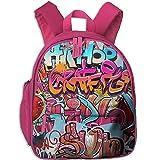 Hip Hop Street Culture Spray Double Zipper Closure Waterproof Children Schoolbag Backpacks With Front Pockets For Teens Boys Girls