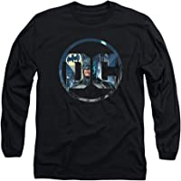 Popfunk Batman DC Comics Logo Longsleeve T Shirt & Stickers