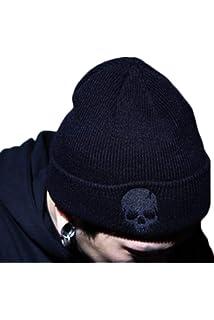 Zonsaoja Sombrero de Punto Unisex Gorra de Calavera Beanie Hip Hop Invierno  cálido c3c094a1d12