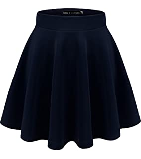 Gaatpot Falda Mujer Alto Cintura Corto Elástica Plisada Básica ...