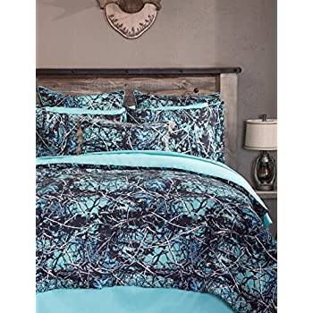 Image of Carstens Muddy Girl Serenity 4 Piece Bedding Set, King Home and Kitchen
