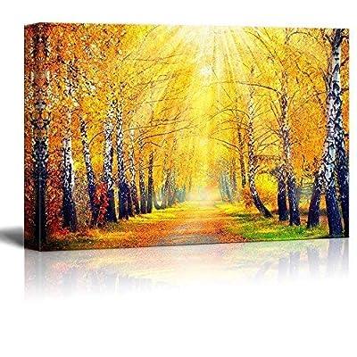 Canvas Wall Art - Beautiful Autumnal Park - Gallery Wrap Modern Home Art   Ready to Hang - 24' x 36'