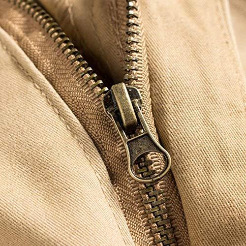 Basicas Sueltos Hombres Deportivos Algodón Carga Vintage Pantalones De Sólido Jogging Bolsillos Largos Color Khaki Para Muchos YnSnzqwt
