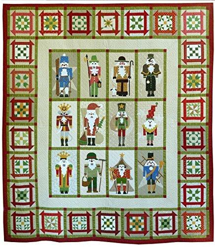 Classic Nutcrackers Christmas Sue Garmen Pieced Applique Come Quilt Pattern Set by Come Quilt