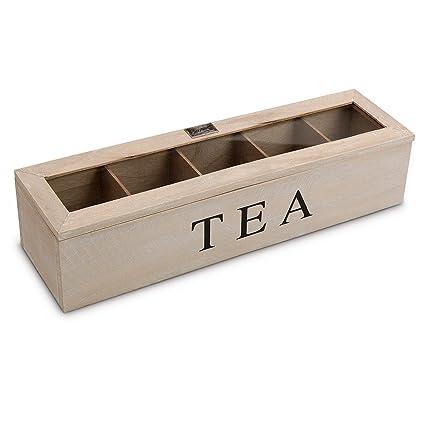 Genérico - Caja de té de Madera Vintage