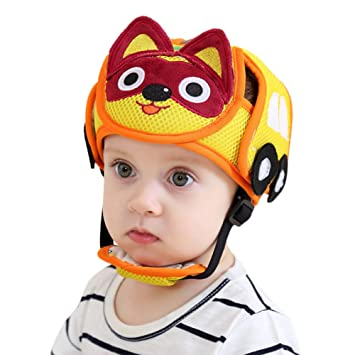 Gorro tipo casco protector para bebés 818fd64bbbd