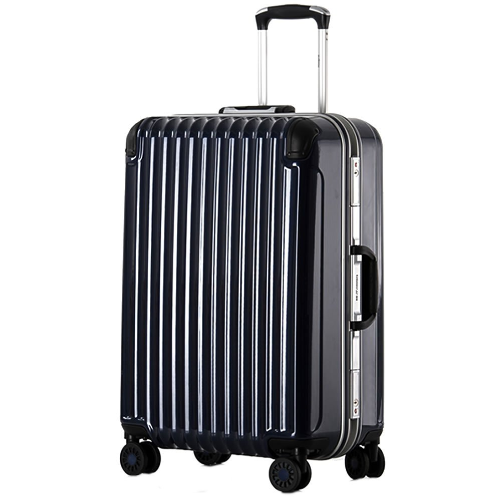 スーツケース 中型 フレーム Mサイズ 鏡面アンフィスバエナ B07BXJM8Y1 小型、S、20|ブルー ブルー 小型、S、20