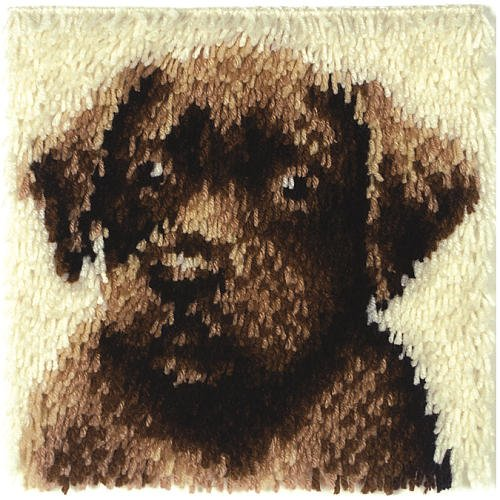 Wonderart Latch-Hook Kit, Chocolate Dog, 12