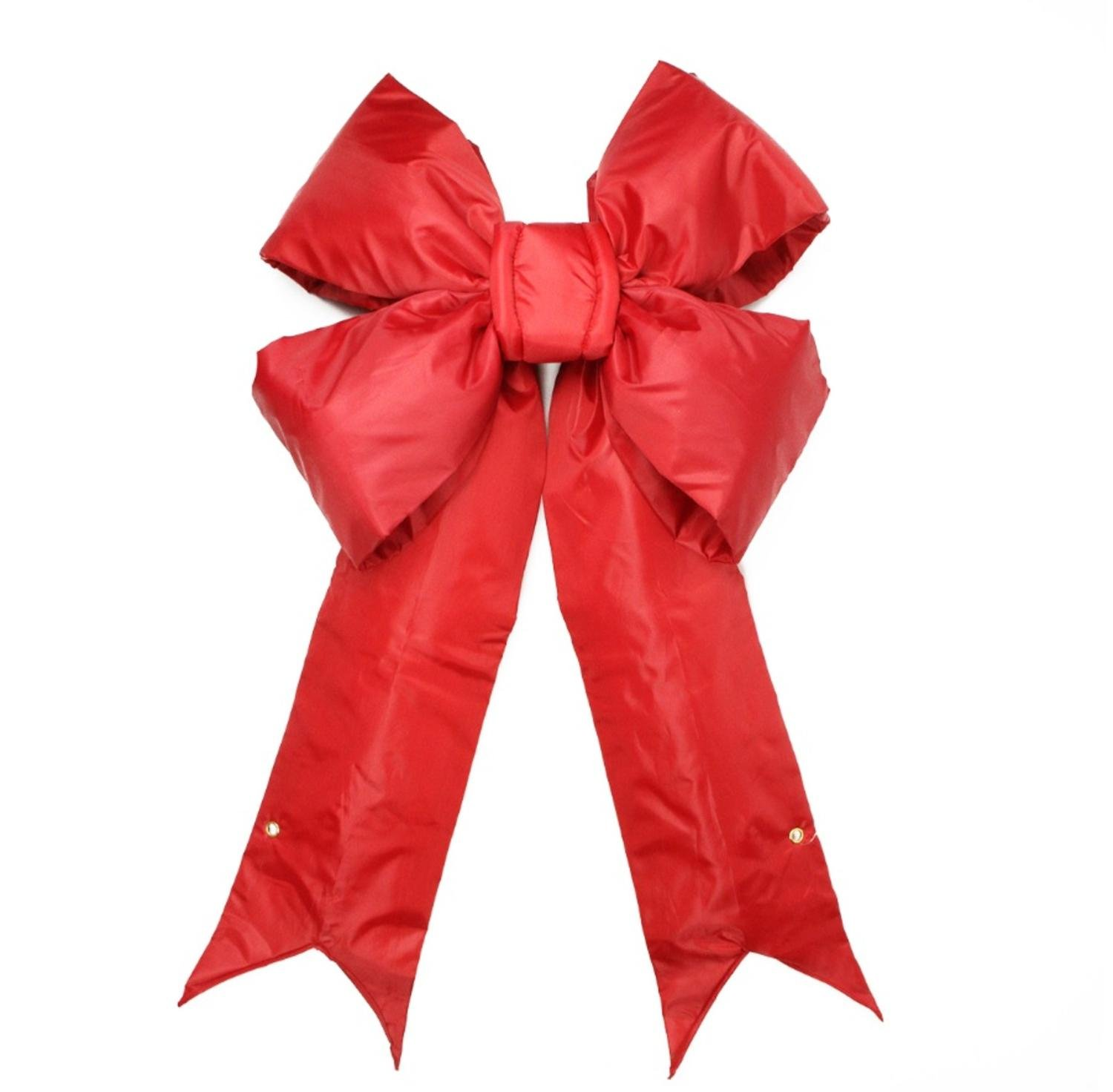 Vickerman 12'' x 17'' Commercial Structural 4-Loop Red Indoor/Outdoor Christmas Bow Decoration