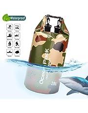 Idefair Sac étanche étanche, Sac de Plage Flottant pour Sac à Dos, Sac Sec léger pour la Plage, la Navigation de Plaisance, pêche, Kayak, Natation, Rafting, Camping10L 20L