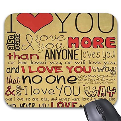 Amazon.com : Cute Valentines Day Love Quotes Mouse Pad 9 X ...