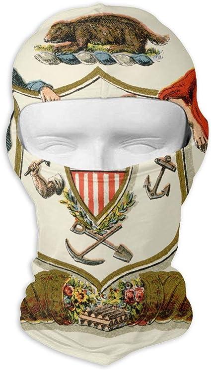 LaoJi Coat of Arms Color Winter Ski Mask Balaclava Hood Wind-Resistant Face Mask