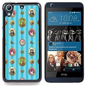"Qstar Arte & diseño plástico duro Fundas Cover Cubre Hard Case Cover para HTC Desire 626 (Gatos Wallpaper Retrato felino foto enmarcada"")"