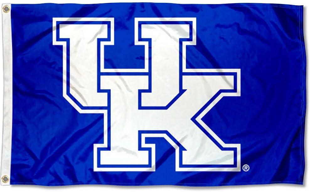 NCAA Kentucky Wildcats Car Flag with Free Wall Bracket