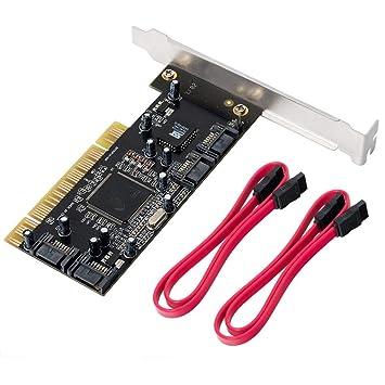 QNINE 4 Puertos PCI SATA Raid Controller Tarjeta de ...