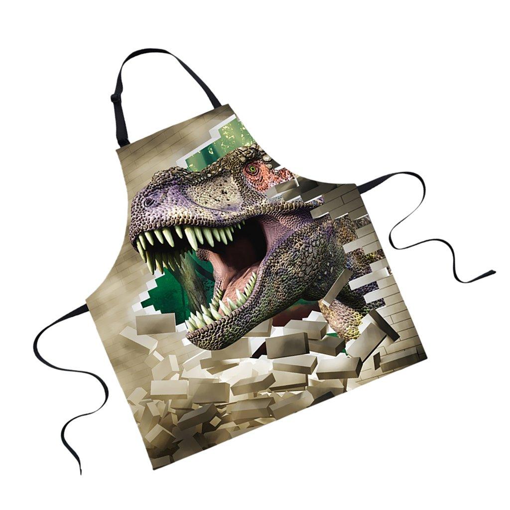 Jili Online Funny Animal Printed Aprons for Men Party Animal Baking Kitchen Chefs Gift - Dinosaur#1
