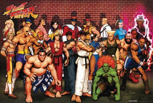 Amazon Com Street Fighter Poster Amazing Cast Rare Hot New 24x36