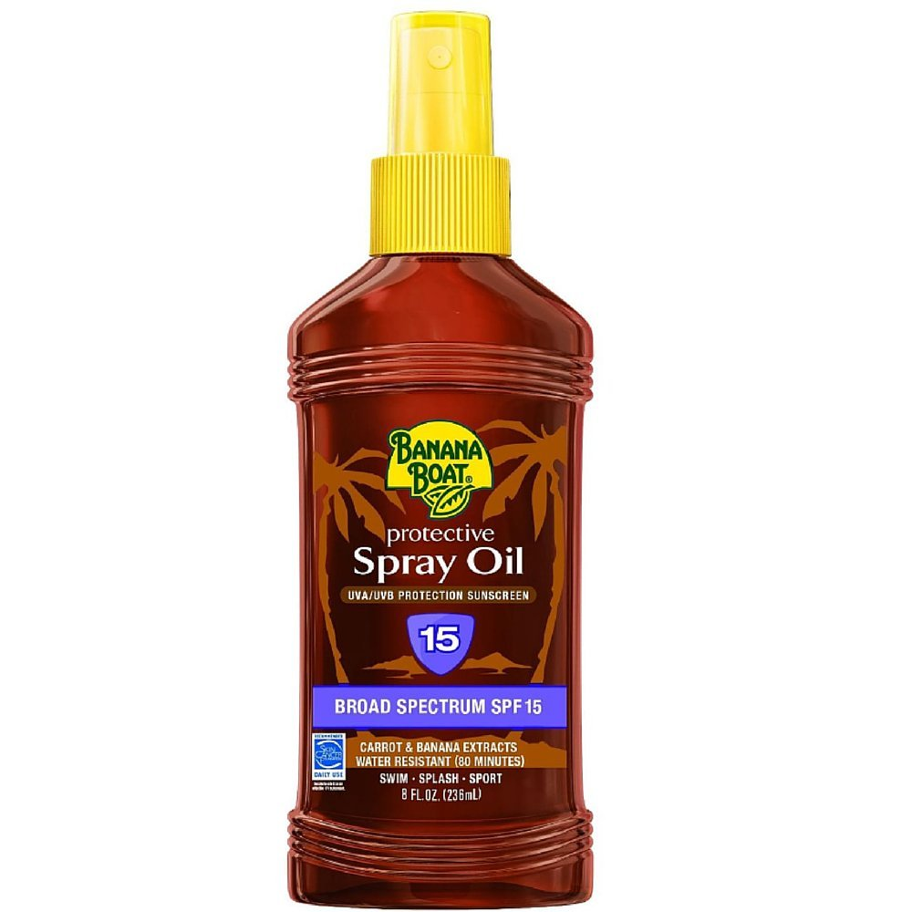 Banana Boat Sunscreen Oil SPF 15 Spray, 240 mL (Pack of 3)