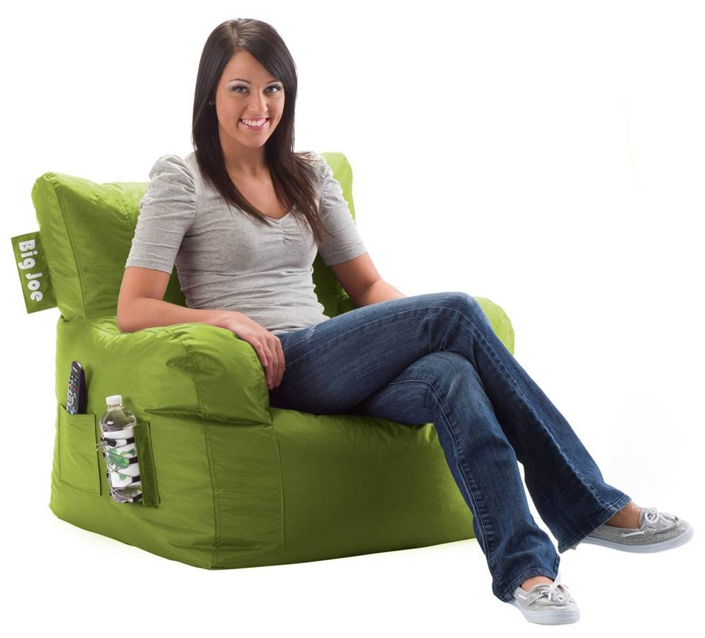 Big Joe Comfort Research Dorm Chair with Smart Max Fabric, Lime-anade