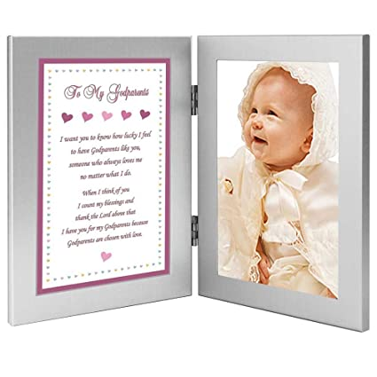 Christening Day Photo Frame with Poem