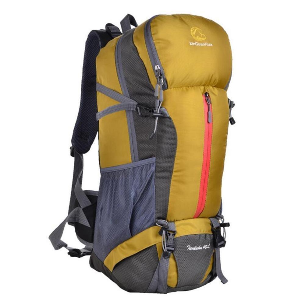 JSJ 40L im Freien Berg Tasche Schultertasche mit großer Kapazität Camping professionelle Reise Wandern, Gelb