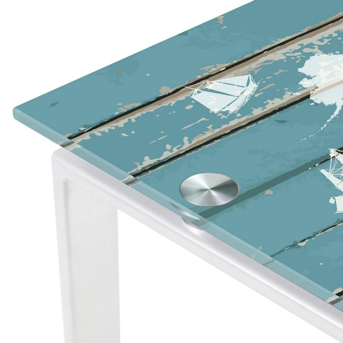 Mesa Escritorio de Cristal Blanca Vintage para Dormitorio Bretaña ...