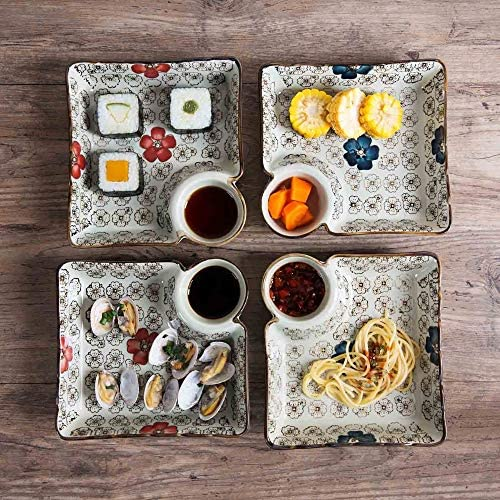 Details about  /Ceramic Dinner Plates Dumplings Bowl Sushi Plate Sauce Dishes Tableware Tray