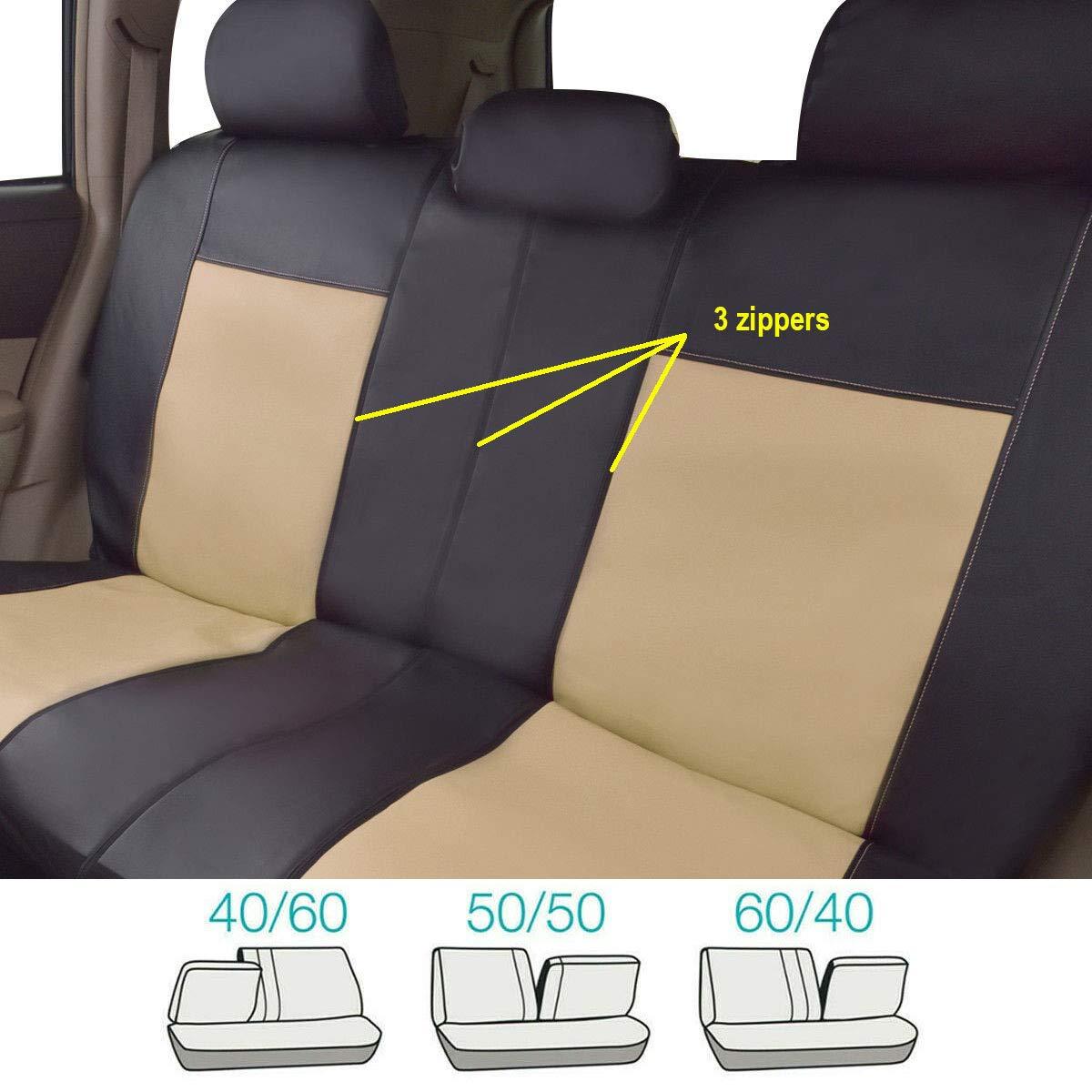 Calidad Superior Universal Seat Ibiza Heavy Duty cubiertas de asiento de coche//1+1 protectores