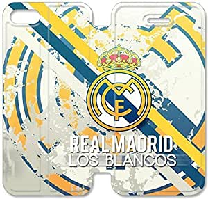 Fashion Style Real Madrid logo Phone case Thin Slim Flip Leather Case Cover For iPhone 5 5s OOL2964476