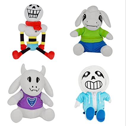 4 PCS New Cute Undertale Sans Stuffed Animal Plush Dolls Toys, Sans,  Papyrus, Toriel, Asriel