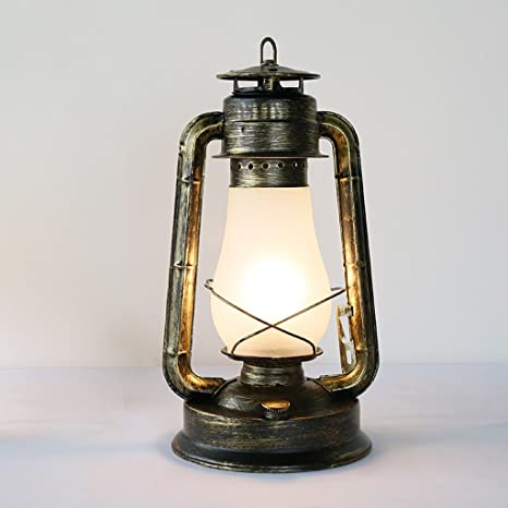 JIAHONG Retro aldea nostálgica industrial antigua lámpara de ...