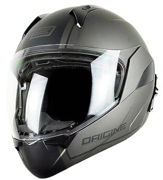 Origine Helmets - Riviera Dandy Flip-Up Casco Moto, Negro/Gris, ...