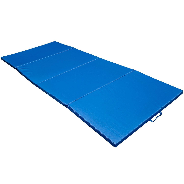 HOMCOM Klappbare Turnmatte Gymnastikmatte Klappmatte Sportmatte Weichbodenmatte Fitnessmatte Yoga Sport Matte 4 x Klappbar 305x122x5cm