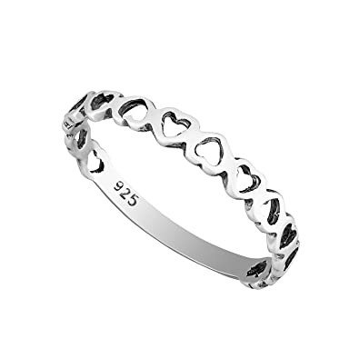 Sterling Silver Bubble Bead Stacking Ring 2.5mm in sizes G-Z 9uianTxENk