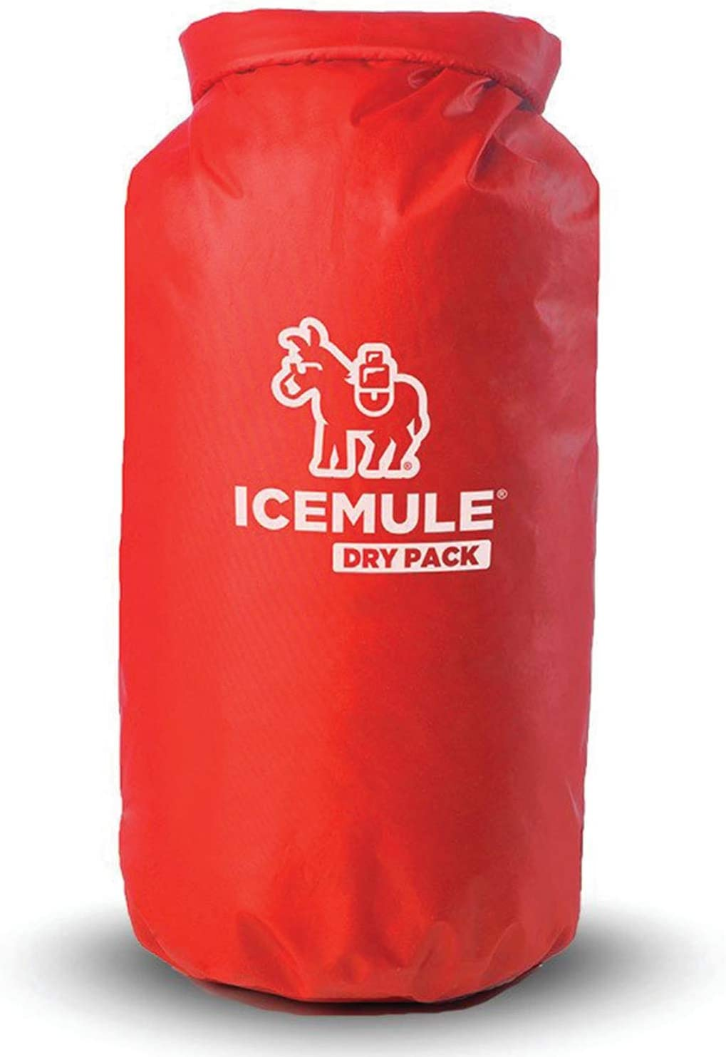 IceMule 1300 Pro Dry Pack 10 Liter Outdoor Water Resistant Travel Sized Nylon Camping Food Storage Pouch and Dry Bag, Red