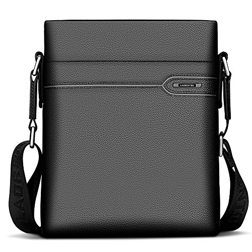 f235b287f4 LAORENTOU Men Genuine Leather Shoulder Bag Crossbody Bag Business Cowhide Messenger  Purse Cross body Bags For