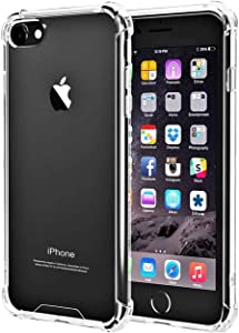 iBarbe Clear Cover for iPhone 6 6s, Protective Shell Shockproof Heavy Duty TPU Bumper Case Anti-Scratches Extreme Protection Cover Heavy Duty Case for iPhone 6 6S 4.7