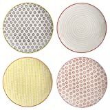 Bloomingville Susie 8-inch Stoneware Plates, Multicolor, Set of 4