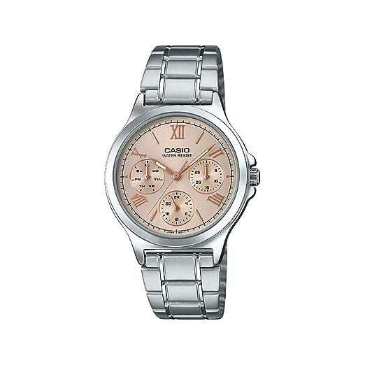 Amazon.com: Casio LTP-V300D-9A2 - Reloj analógico de acero ...