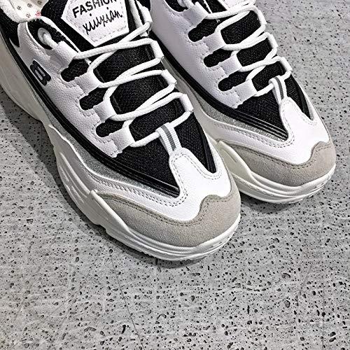para White Zapatos Increase Negro Sneakers Sneakers Increase High Fashion para NANXIE Estudiantes Informales Platform Mujer Street Zapatillas zwaxXZqO5