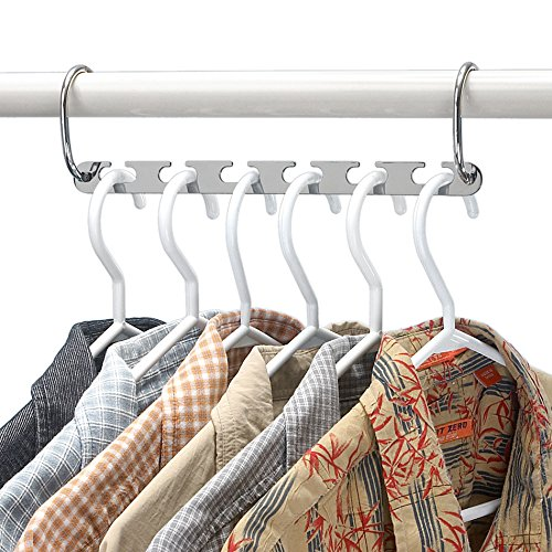 Wonder Hanger Platinum - Magical Space-Saving Chrome Hangers, Pack of 4 in Chrome Color