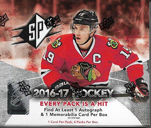 2016 Spx Auto - 2016-17 UD SPX Hockey Sealed Box Of 4 Packs 1 Auto & 1 Memorabilia Per Box