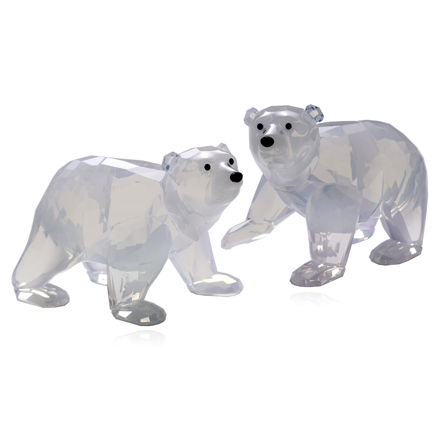 Swarovski Polar Bear Cubs, White Opal Crystal Figurine - Retired 1080774