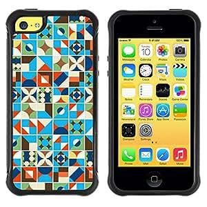 Suave TPU GEL Carcasa Funda Silicona Blando Estuche Caso de protección (para) Apple Iphone 5C / CECELL Phone case / / Blue Blanket Pattern Lines /