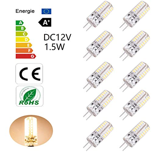Bombillas LED G4 de 1.5W equivalentes a Lámparas halógenas de 15W DC12V No-Regulable