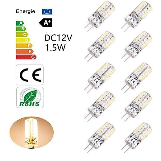 Bombillas LED G4 de 1.5W equivalentes a Lámparas halógenas de 15W DC12V No-Regulable